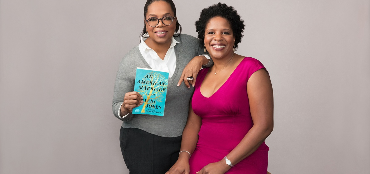Oprah Winfrey with Tayari Jones