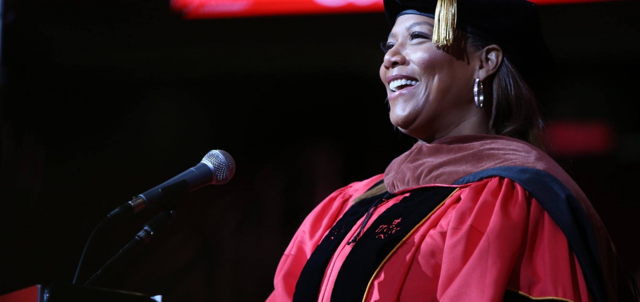 Queen Latifah addresses the Class of 2018