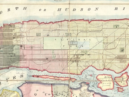 Historical map of Manhattan
